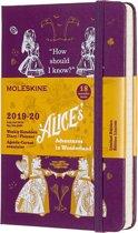 Moleskine 18 maanden agenda 2019-2020 -  Alice in Wonderland - Wekelijks - Pocket (9x14 cm) - Paars - Harde kaft