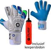 Elite - Aqua H - Keepershandschoenen - inclusief Keepersbidon - maat 11 - voetbal keepershandschoenen - keepershandschoen - Goalkeeper handschoen