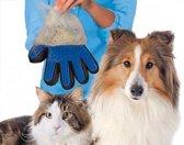 Borstelhandschoen voor honden en katten - huisdieren - rechtshandig