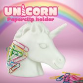 Mustard Desktop Papercliphouder Unicorn - Magnetisch - Wit
