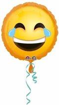 Helium ballon lachende smiley 43 cm