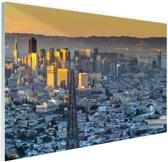 San Francisco in ochtendlicht Glas 30x20 cm - klein - Foto print op Glas (Plexiglas wanddecoratie)