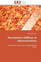 Descriptions D� Nies Et D�monstratives