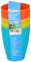Kleurrijke Bekerset Voor Kinderen - 12 Delig - Campingbekers - Plastic Bekers - Diverse Kleuren 150ML