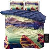 Sleeptime Boat in Lake - Dekbedovertrekset - Lits-Jumeaux - 240x200/220 + 2 kussenslopen 60x70 - Multi