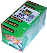 3x Scotch plakband Magic  Tape 19mmx33 m, pak a 6 rollen