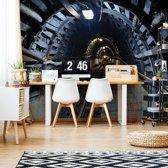 Fotobehang Underground Tunnel | VEXXL - 312cm x 219cm | 130gr/m2 Vlies