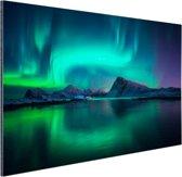 FotoCadeau.nl - Noorderlicht bij de Lofoten in Noorwegen Aluminium 120x80 cm - Foto print op Aluminium (metaal wanddecoratie)