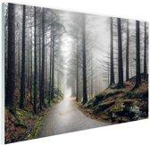 Mist in de bergen Glas 90x60 cm - Foto print op Glas (Plexiglas wanddecoratie)