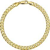 The Jewelry Collection - Herenarmband - Gourmetschakel -  5,1 mm - Geelgoud - 20 cm