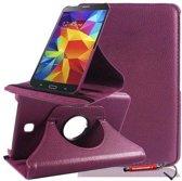 Paarse 360 graden draaibare tablethoes Galaxy Tab 4 7.0 en uitschuifbare Hoesjesweb stylus