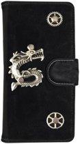 MP Case® PU Leder Mystiek design Zwart Hoesje voor Apple iPhone 7 / 8 Draak Figuur book case wallet case