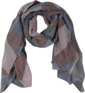 Sjaal Roze Vlakken 90 x 180 cm