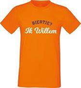Oranje shirt Koningsdag | Biertje? Ik Willem |