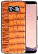 Croco Bruin hard case hoesje voor Samsung Galaxy S8 Plus