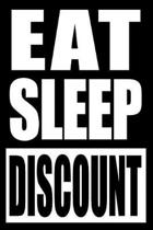 Eat Sleep Discount Cool Notebook for Coupon Collectors, College Ruled Journal