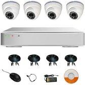 Dome camera beveilingsset camera beveiliging