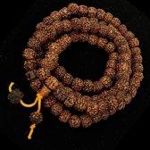 Mala Rudraksha&minerals 108 kralen - 1.0 cm