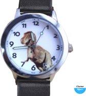 Dinosaurus horloge Zwart