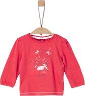 S Oliver Meisjes T-shirt - rood - Maat 62