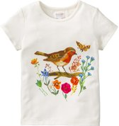 Tins T-shirt off-wit vogelprint
