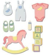 Sizzix Thinlits Die Set - 12PK New Baby #2 663365 Lisa Jones (01-19)