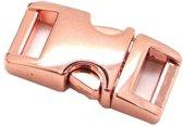 3x Paracord  metalen buckle / sluiting - Rose Gold