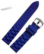 Fako® - Horlogebandje - Siliconen - 20mm - Donkerblauw