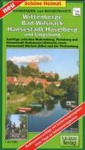 Radwander- und Wanderkarte Wittenberge, Bad Wilsnack, Hansestadt Havelberg und Umgebung 1:50000