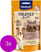 Vitakraft Treaties Bits Leverworst - Hond - Snack - 3 x 120 gr