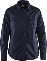 Blåkläder 3208-1135 Twill overhemd dames Marineblauw maat XXXL