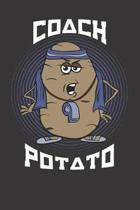 Coach Potato Notebook Journal: Coach Potato Notebook Journal Gift Dot Grid 6 x 9 120 Pages