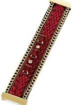 Statement Armband Ibiza Rood met Rode steen en Magneetsluiting