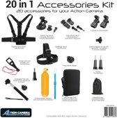Pro-Mounts 20-in-1-kit Action Cam en GoPro accessoires