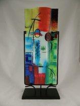 Glassculptuur Sampaguita  Rechthoek Kleurrijk