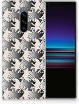 Sony Xperia 1 Uniek TPU Hoesje Salamander Grey