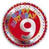 Happy Birthday 9 jaar folie ballon