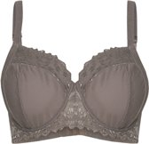 Sapph Lizz Non Padded Wire Bra Curvy Dames Beha - Taupe - Maat 70G