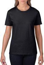 Basic ronde hals t-shirt zwart voor dames - Casual shirts - Dameskleding t-shirt zwart XL (42/54)
