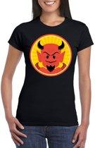 Halloween duivel t-shirt zwart dames - Rode duivels shirt S