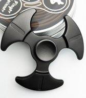 Fidget spinner metaal zwart aluminium