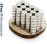 Ronde platte neodymium magneetjes 100 stuks - 5 x 3 mm