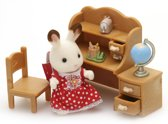 Sylvanian Families 5016 Set Zus Chocoladekonijn (Bureau)-  - Speelfigurenset