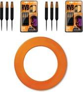 Raymond van Barneveld - Dartbord surround ring - Oranje - plus 2 sets - Barneveld - dartpijlen
