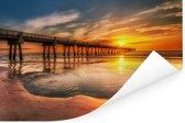 Zonsopgang aan de kust van Jacksonville in Florida Poster 30x20 cm - klein - Foto print op Poster (wanddecoratie woonkamer / slaapkamer)
