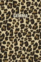 Gemma: Personalized Notebook - Leopard Print (Animal Pattern). Blank College Ruled (Lined) Journal for Notes, Journaling, Dia