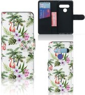 Telefoonhoesje met Pasjes LG G8s Thinq Flamingo Palms