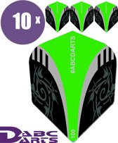 ABC Darts Flights - Extra Stevig - Tribal Groen - 10 sets (30 stuks Dart Flights)