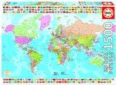 Educa Wereldkaart - 1500 stukjes