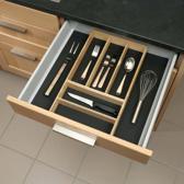 Culinorm bestekbak hout  met antislipmat - breedte 35 cm t/m 55 cm - diepte 48 cm